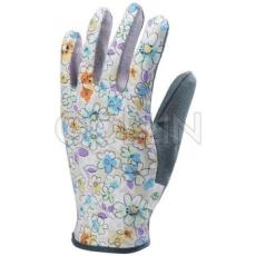 Euro Protection Minipöttyös, szürke pamut tenyér, rugalmas Spandex/pamut virágmintás kézhát