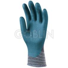 Euro Protection Eurofit rugalmas Spandex/nylon kesztyû, ökölcsontig kék nitril-poliuretánnal mártva