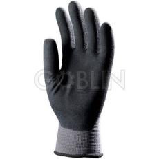 Euro Protection Poliamid szerelõkesztyû, tenyéren és hátul ökölcsontig fekete nitril, mikro-habosított