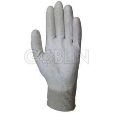 Euro Protection Antisztatikus ESD minõsített poliamid/karbon kesztyû, poliuretán tenyérrel