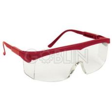 Lux Optical® Pivolux védõszemüveg, piros keret, víztiszta lencse, állítható dõlésszög és...