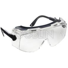 Lux Optical® Twistlux védõszemüveg, víztiszta, karcmentes lencse, fekete, állítható hosszúságú és...
