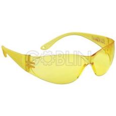 Lux Optical® Pokelux védõszemüveg, polikarbonát, sárga lencse, karc- és páramentes
