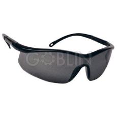 Lux Optical® Astrilux védõszemüveg, sötét, karc- és páramentes lencse, fekete, állítható szárral
