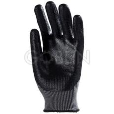 Euro Protection 5-ös vágásálló, kopásbiztos, multiszálas kesztyû, tenyéren+hátul ökölcsontig fekete...