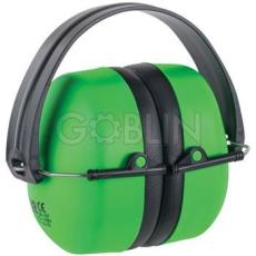 Earline® MAX 500 fluo zöld, jó láthatóságú fültok, összecsukható, állítható fémpánttal (SNR...
