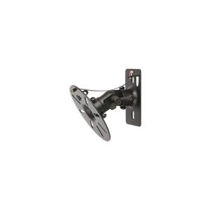 Stell fali hangszórótartó (pár), fekete, acél