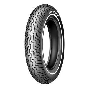 Dunlop D402 F H/D SW ( MT90B16 TL 72H fehérfalú, white wall gumi, single white wall, M/C, Első kerék )