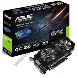 Asus GeForce GTX750 Asus GTX750TI-OC-2GD5 PCX vga kártya