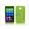Haffner Nokia X/X+ szilikon hátlap - S-Line - zöld
