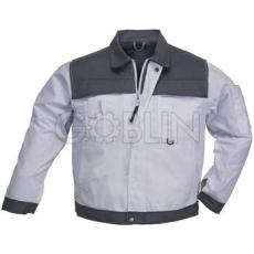 Coverguard CLASS fehér/szürke munkaruhák nagy igénybevételre, kabát, cipzáras, plusz patentos, 8...