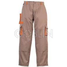 Coverguard CARPENTER bézs munkaruházat narancs díszítéssel, deréknadrág, biztonsági varrás, dupla...