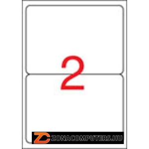 Etikett, univerzális, 199,6x144,5 mm, kerekített sarkú, APLI, 200 etikett/csomag (LCA2423)