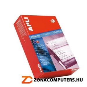 Etikett, mátrixnyomtatókhoz, 2 pályás, 134,6x99,4 mm, APLI, 3000 etikett/csomag (LCA075)