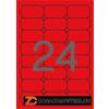 Etikett, 64x33,9 mm, színes, kerekített sarkú, APLI, neon piros, 480 etikett/csomag (LCA2872)