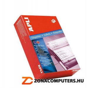 Etikett, mátrixnyomtatókhoz, 3 pályás, 88,9x36 mm, APLI, 12000 etikett/csomag (LCA025)