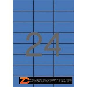 Etikett, 70x37 mm, színes, APLI, kék, 2400 etikett/csomag (LCA11835)