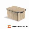 Tárolódoboz, 22 l, bambusz mintás, CURVER (CSCBAM)