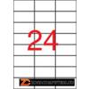 Etikett, 70x37 mm, poliészter, időjárásálló, matt, APLI, áttetsző, 2400 etikett/csomag (LCA11918)