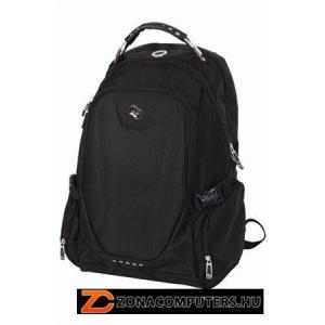 """Notebook hátizsák, 15"""", 2 részes, PULSE """"Track"""", fekete (PLS20050)"""