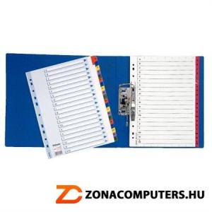 """Regiszter, laminált karton, A4, A-Z, ESSELTE """"Mylar"""" (E100166)"""