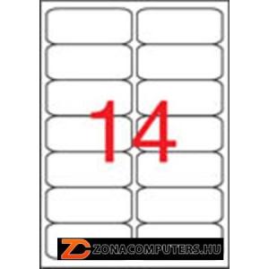 Etikett, univerzális, 99,1x38,1 mm, kerekített sarkú, APLI, 1400 etikett/csomag (LCA2419)