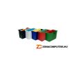 Függőmappa tároló, műanyag, 5 db függőmappával, DONAU, piros (D7422P)