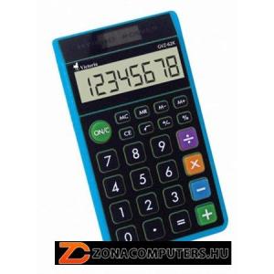 """Zsebszámológép, 8 számjegy, környezetbarát, VICTORIA """"GVZ-62K"""", kék (GVZ62K)"""