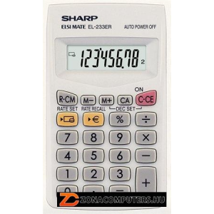 """Zsebszámológép, 8 számjegy, SHARP """"EL-233ER"""" (SH233)"""