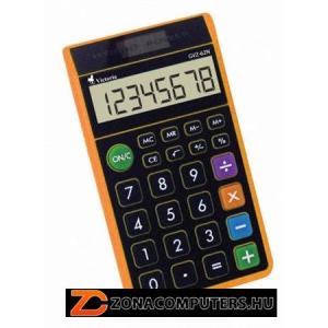 """Zsebszámológép, 8 számjegy, környezetbarát, VICTORIA """"GVZ-62N"""", narancs (GVZ62N)"""