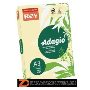 """Másolópapír, színes, A3, 80 g, REY """"Adagio"""", pasztell sárga (LIPAD38PS)"""