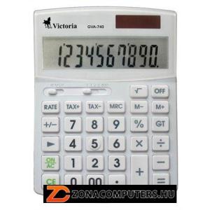 """Számológép, asztali, 10 számjegy, környezetbarát, VICTORIA """"GVA-740"""", fehér (GVA740)"""