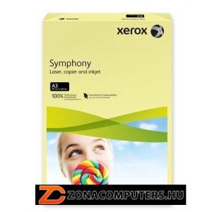 """Másolópapír, színes, A3, 80 g, XEROX """"Symphony"""", világossárga (pasztell) (LX91957)"""