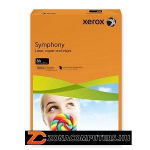 """Másolópapír, színes, A4, 160 g, XEROX """"Symphony"""", narancs (intenzív) (LX94276)"""