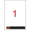 Etikett, 210x297 mm, poliészter, időjárásálló, APLI, 20 etikett/csomag (LCA1228)