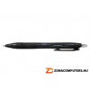 Golyóstoll, 0,35 mm, nyomógombos, fekete tolltest, UNI