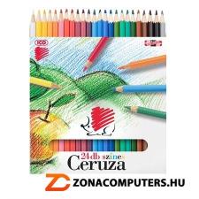 """Színes ceruza készlet, hatszögletű, ICO """"Süni"""", 24 különböző szín (TICSU24) színes ceruza"""