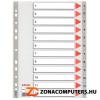 Regiszter, műanyag, A4, 1-12, ESSELTE, szürke (E100106)