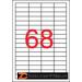 Etikett, univerzális, 48,5x16,9 mm, APLI, 6800 etikett/csomag (LCA3128)