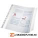 Genotherm, lefűzhető, A4, 100 mikron, narancsos felület, behajtható füllel, ESSELTE (E17939)