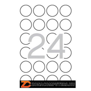 Etikett, 40 mm kör, biztonsági, kerekített sarkú, APLI, 240 etikett/csomag (LCA11271)