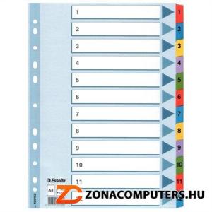"""Regiszter, laminált karton, A4, 1-12, ESSELTE """"Mylar"""" (E100162)"""