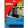 Etikett, 190x61 mm, színes, APLI, piros, 80 etikett/csomag (LCA1376)