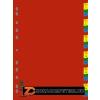 Regiszter, műanyag, A4, 1-31, DONAU, színes (D77360)