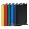 Gyűrűs könyv, 4 gyűrű, 35 mm, A4, PP/karton, DONAU, citromsárga (D3733S)