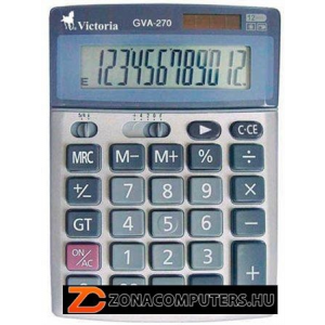 """Számológép, asztali, 12 számjegy, VICTORIA """"GVA-270"""" (GVA270)"""