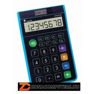 """Számológép, asztali, 8 számjegy, környezetbarát, VICTORIA """"GVA-612K"""", kék (GVA612K)"""