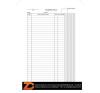 Nyomtatvány, felmérési napló, 25x5, A4, VICTORIA