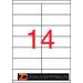Etikett, univerzális, 105x40 mm, APLI, 1400 etikett/csomag (LCA3138)