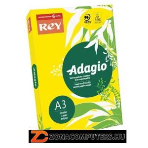 """Másolópapír, színes, A3, 80 g, REY """"Adagio"""", intenzív sárga (LIPAD38IS)"""